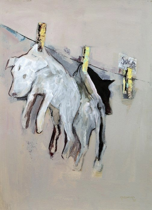 Wallen Mapondera, Friends for Sale, 2013, Acrylic on paper, 70 x 50 cm