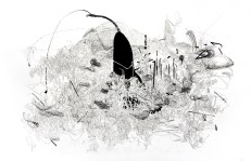 "Jiyoun Lee-Lodge Mindscape 03, 2011 Lithograph 13 x 18.25"""