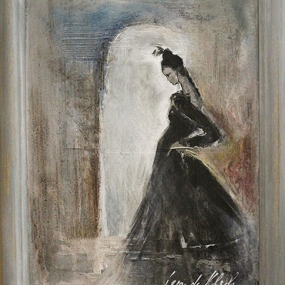 Leon De Klerk woman with black dress
