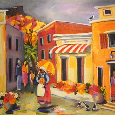 Wil Eaton colourful street scene