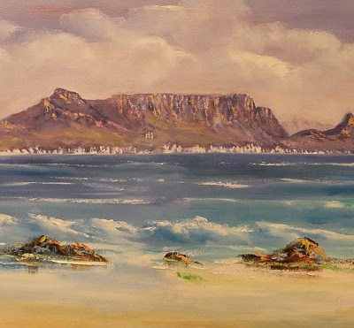painting of table mountain