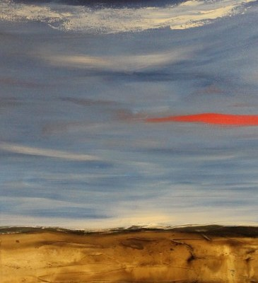 abstract painting of horizon