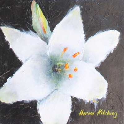 painting of a white flower