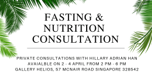 Fasting and Nutirtion Consulation with Hillary Adrian Han April 2019