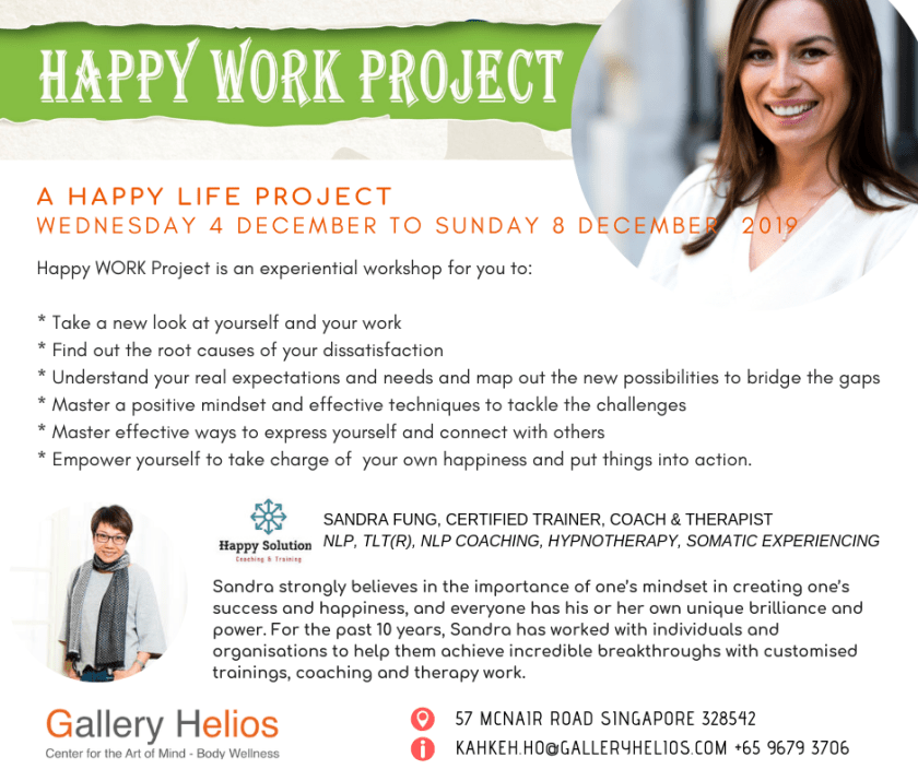 Happy WORK Project December 2019 with Sandra Fung