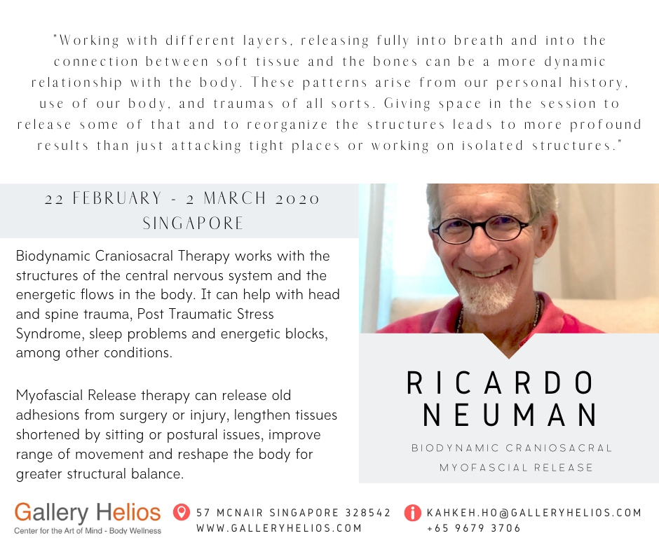 Somatic Therapy with Ricardo Neuman 22 February – 2 March 2020