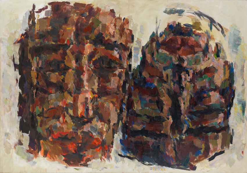 Marwan, Interplay (The Friend), 2001-2002, oil on canvas, 228 x 324 cm