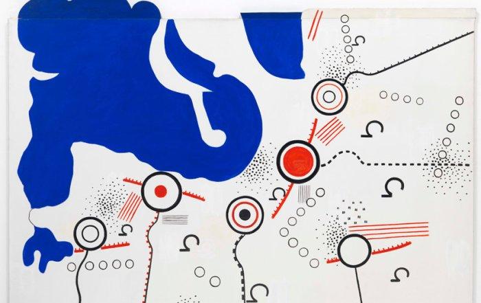 Peter Brüning, Nr. 30/66 II (Nordseeküste), 1966, Öl auf Leinwand, Spanplattenmontage, 118,5 x 165 cm