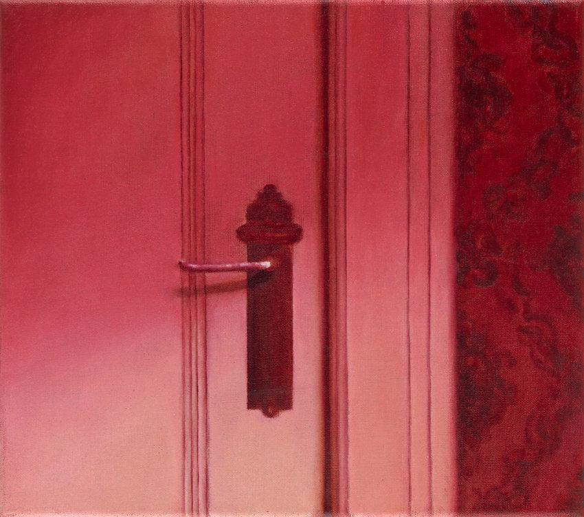 Tanja Nittka, À l'intérieur I (aus der Serie 'Les Chambres'), 2016, Öl auf Leinwand, 25 x 28 cm