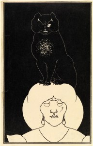 Illustration for Edgar Allan Poe's The Black Cat, about 1894 Aubrey Beardsley, 1872–1898 Zincograph Given by RA Walker, 1922 PR.1922.33.c  (c) CSG CIC Glasgow Museums Collection.