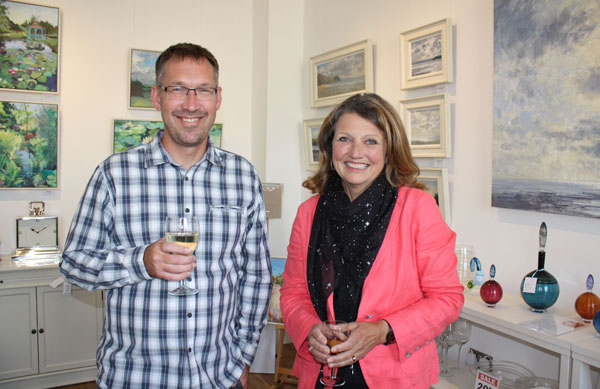 Colin Willey and Lynda Appleby at Gallery On The Square