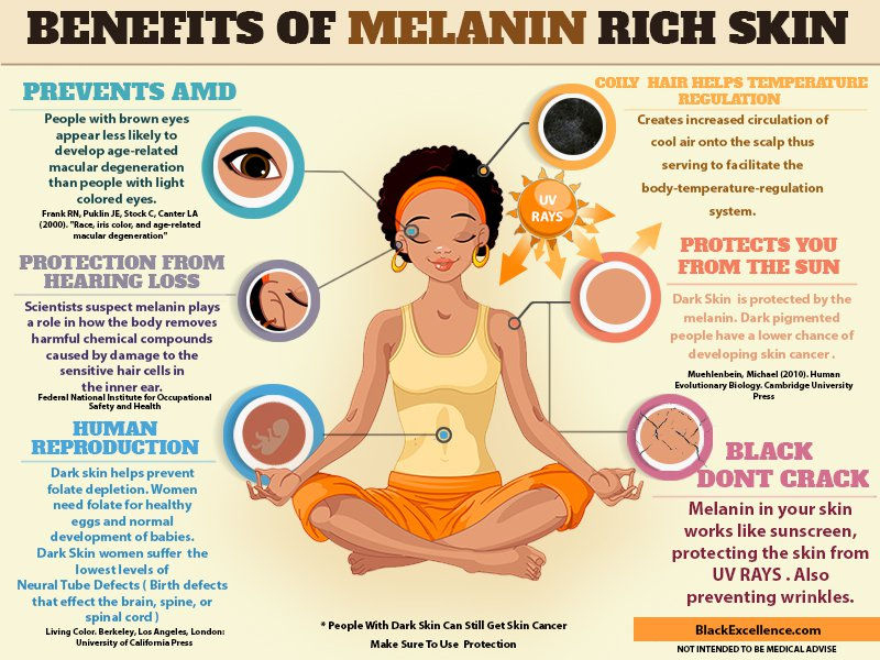 Benefits of Melanin Rich Skin