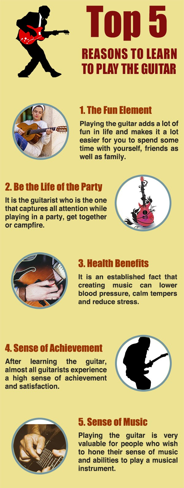 Top 5 Reasons to Learn How to Play the Guitar