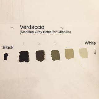 The Verdaccio grey scale visual reference