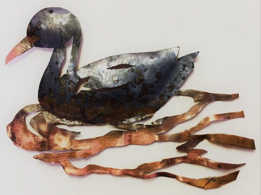 copper duck for stained glass