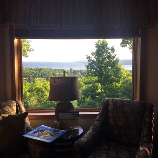 Inspiration awaits from the window of the Landmark Resort in Door County, WI.