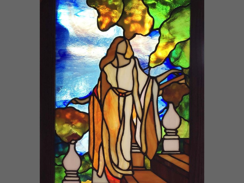 Stained Glass Greek Lady