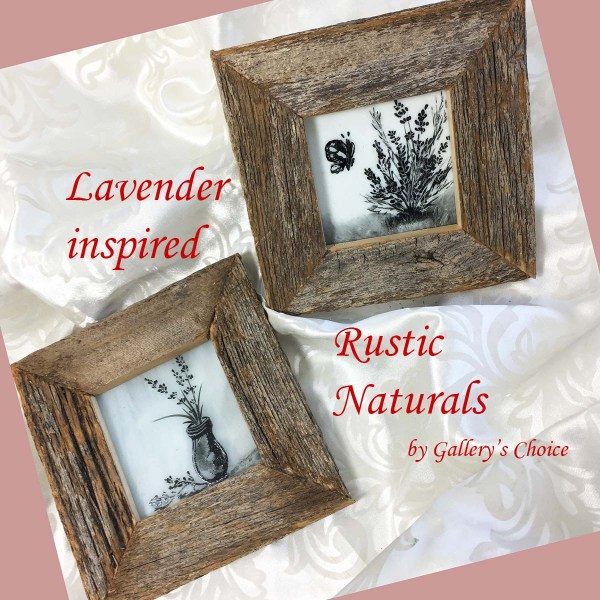 Lavender inspired rustic natural wall art
