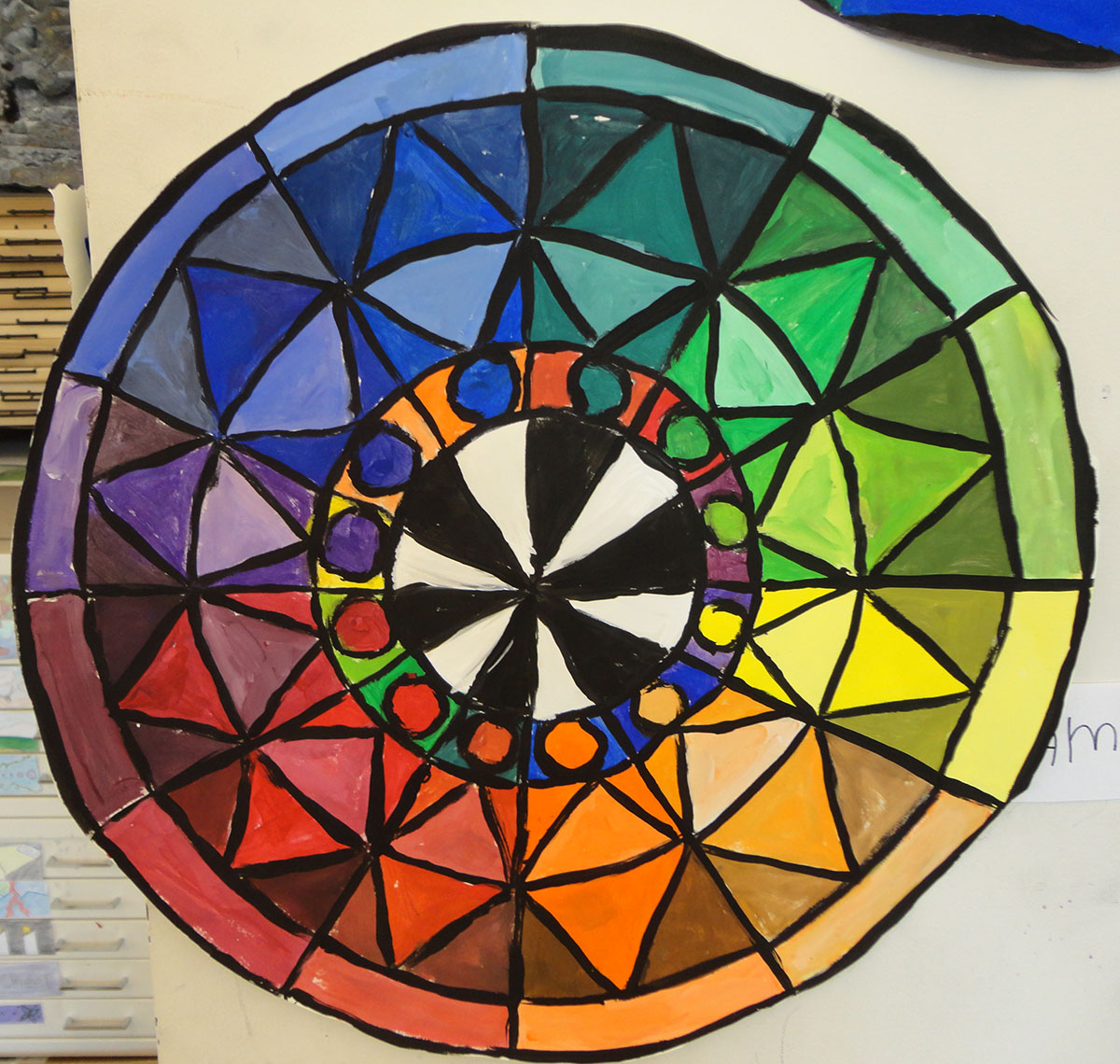 Color Wheel Mandalas Art 1