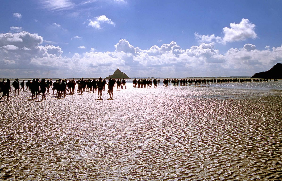 Bay walk to Mont St. Michel_Normandy_2001