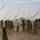 Ethiopia - DIMI. Tribal elders on the march
