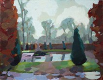 The Ring Pond after rain, Chatsworth 22 x 28 cm