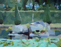 The Ring Pond Rocks, Chatsworth 35 x 45 cm (2nd version, final state)