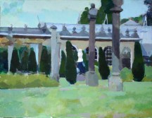 The Conservatory with the Venus De Milo, Chatsworth 35 x 45 cm