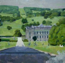The House from the fountain, Chatsworth 70 x 70 cm