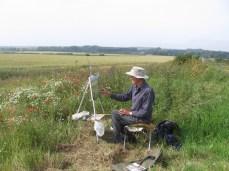IMG_6069 Rex painting poppies in Norfolk