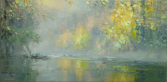 M163A Misty Autumn Day, Chee Dale 12x24