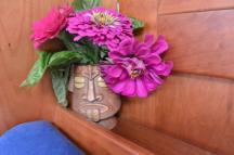 flowers in the corner