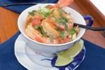shrimp served single galley cooking