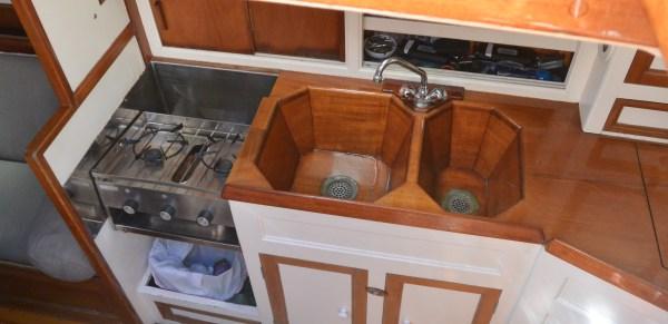 double wooden sink