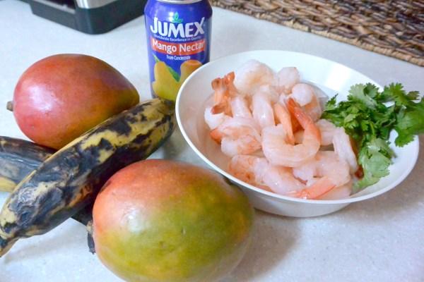 mangoes plantians shrimp