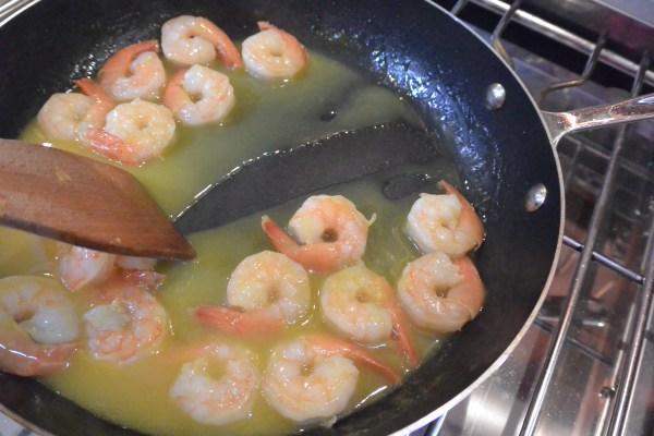 shrimp in mango reduction
