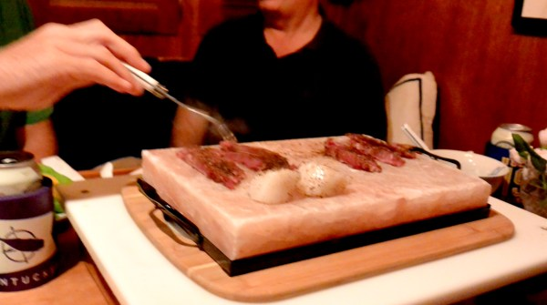 cooking on the salt plate
