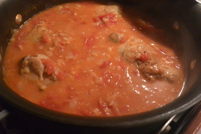 add tomatoes and cook with chicken
