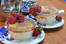 finished two perfect creme brulees