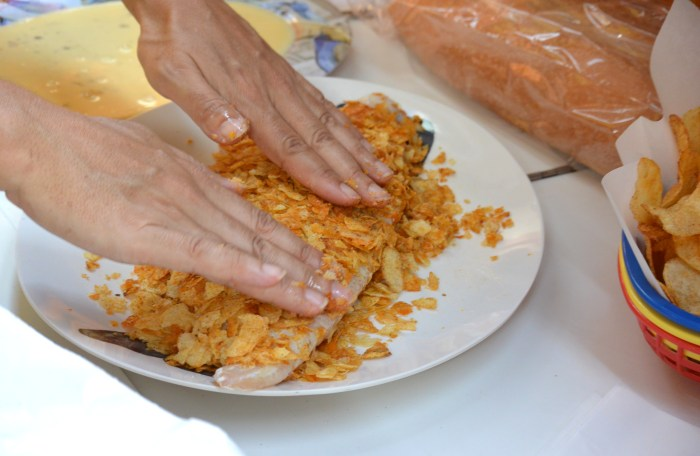 press chips into fillets