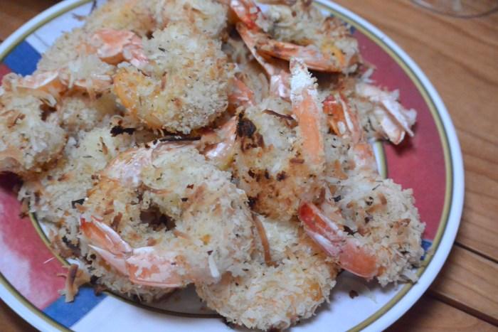 coconut shrimp served