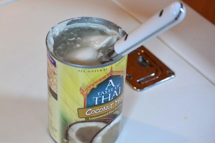 stir coconut milk for gobhi