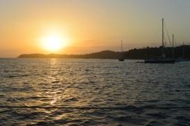 sunset in Las Perlas