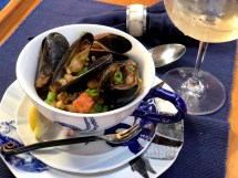 morocan mussels from above