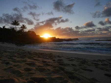 sunset with beach