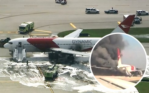 Dynamic airways plane catches fire