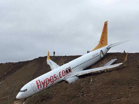Pegasus 737 skids off runway
