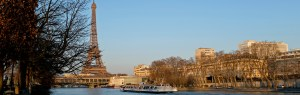 The Effeil Tower and Seine river skyline