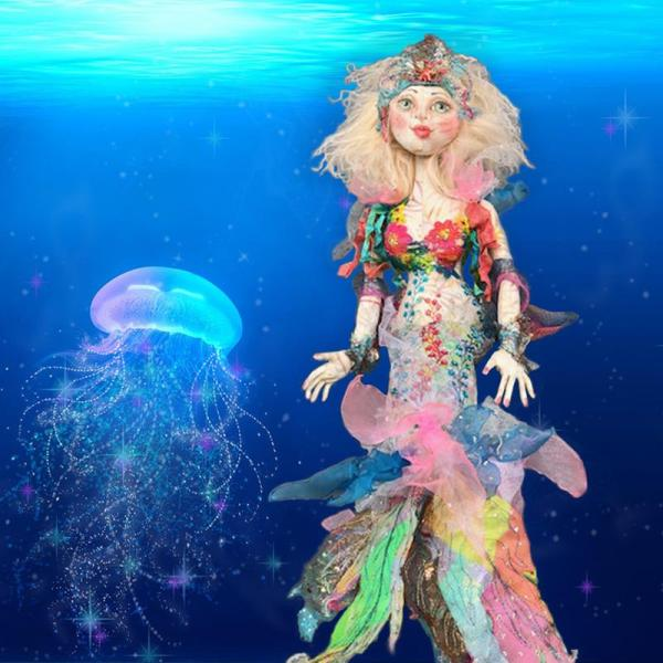Cloth Doll Mermaids - Workshop Image - Patti Medaris Culea