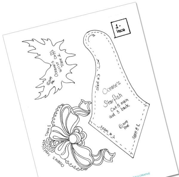 Image of Doll Pattern PDF — from Cloth Doll Mermaids featuring Patti Medaris Culea